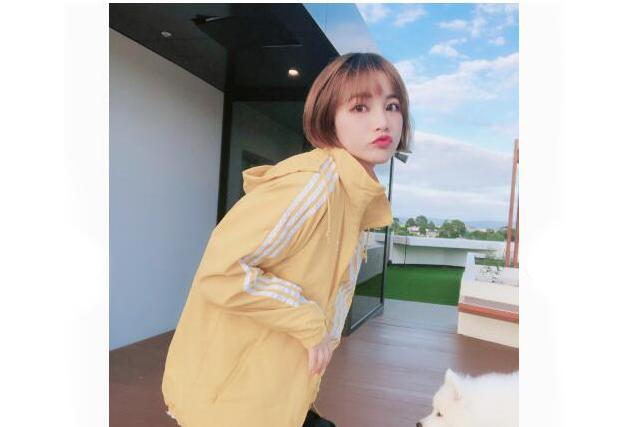 阿迪达斯女外套最新款?阿迪达斯三叶草柠檬黄外套好看吗?-1