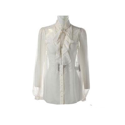 雪纺白衬衣